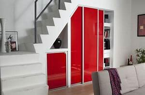 Amenager un placard travauxcom for Meuble hall d entree ikea 16 rangements sous pentes et escaliers placard et dressing