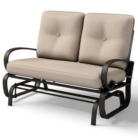 Patio Furniture Loveseat Clearance by Costway Glider Outdoor Patio Rocking Bench Loveseat