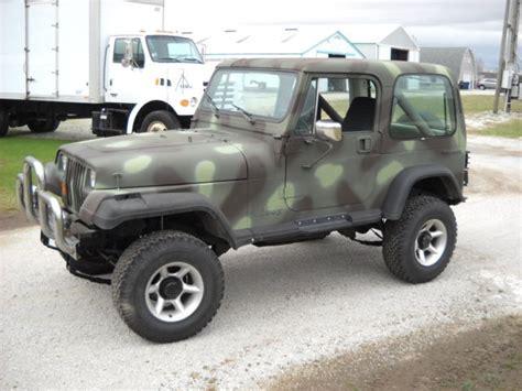 camo jeep yj 1988 jeep wrangler camo for sale jeep wrangler 1988