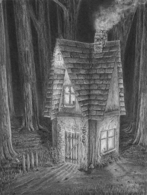 Haus Zeichnen Lernen by Zeichnen Lernen Haus Im Dunklen Wald Zeichnen Tutorial
