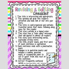 Perfect Revising And Editing Checklist For The Upper Grades!!  Tpt Free Lessons Pinterest