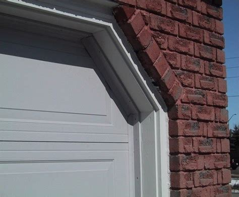 garage weather door stripping side trim diy sides sealing angle overlapping