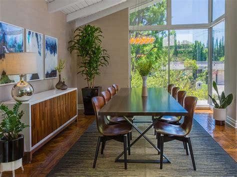 midcentury modern dining room  hgtv