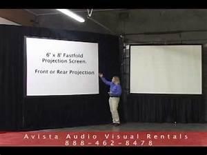 6 U0026 39 X8 U0026 39  Fastfold And 8 U0026 39  Tripod Projection Screen Overview