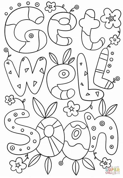 Soon Well Coloring Cards Printable Card Pages