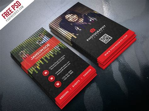 psd professional photographer business card bundle