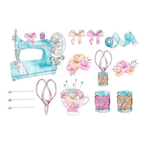 Sewing Clip Vintage Sewing Machine Clipart