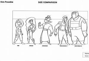 Art Of Animation Kim Possible Character Charts