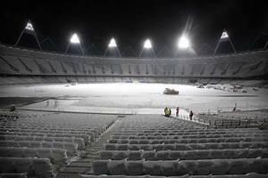London Olympic Stadium Lights London Olympic Stadium Construction E Architect