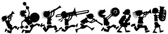 Image result for clip art band performing