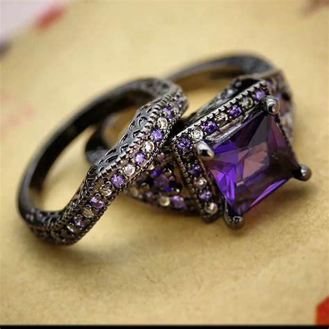 25+ Purple Wedding Ring Designs, Trends, Models  Design. Princess Cut Diamond. Two Tone Bangles. Artistic Earrings. Platinum Diamond Pendant. Beaded Bands. Baguette Diamond Ring Band. Bluestone Pendant. Platinum Earrings
