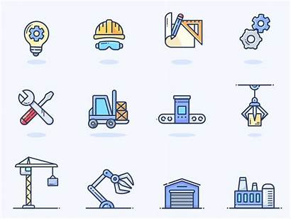 Manufacturing Icons Animated Vector Pack Graphics Outlane