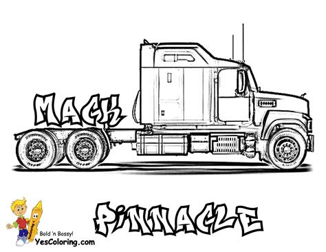 18 Wheeler Truck Coloring Pages Gallery