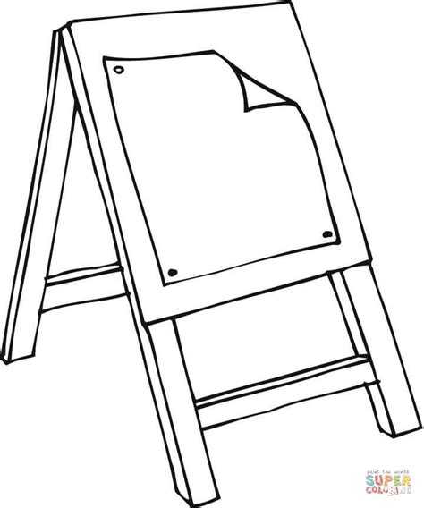 art class easel coloring page  printable coloring