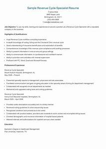 Healthcare Revenue Cycle Management Resume Samples