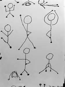 Drawing People Stick Figures