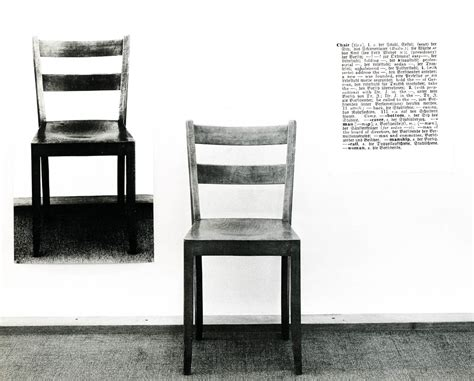 Joseph Kosuth One And Three Chairs by Image Gallery One And Three Chairs