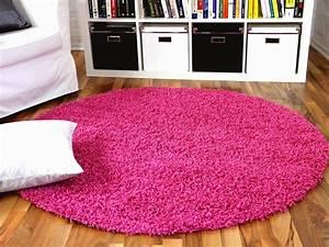 Teppich Rund Rosa : hochflor langflor shaggy teppich aloha pink rund teppiche hochflor langflor teppiche pink lila ~ Whattoseeinmadrid.com Haus und Dekorationen