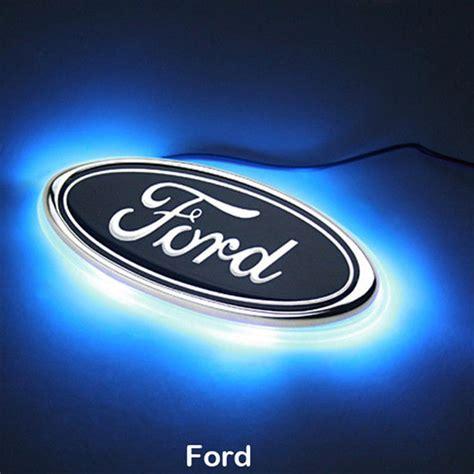 light up car emblems led car logo light auto rear emblem l for ford focus