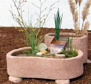 mini teich kaskade springbrunnen brunnen wasserspiel With französischer balkon mit brunnen garten stein