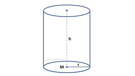 zylinder volumen mantel und oberflaeche berechnen formel