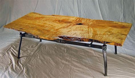 custom  edge coffee table  rising sun forge