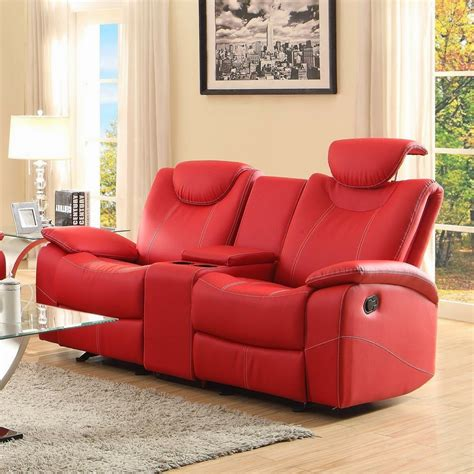red leather sofa and loveseat red leather reclining sofa smalltowndjs com