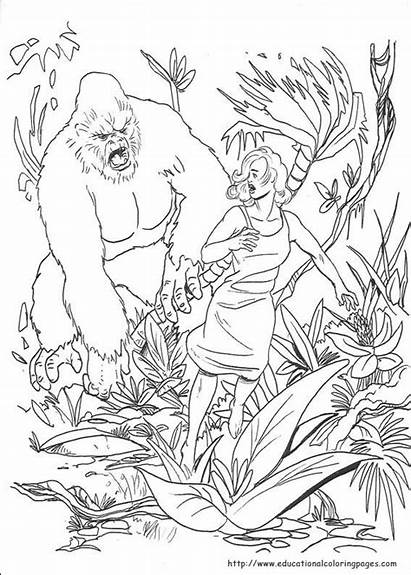 Kong King Coloring Pages Printable Wars Star