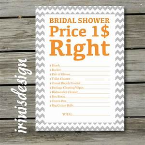 items similar to bridal shower game the price is right With price is right bridal shower game template