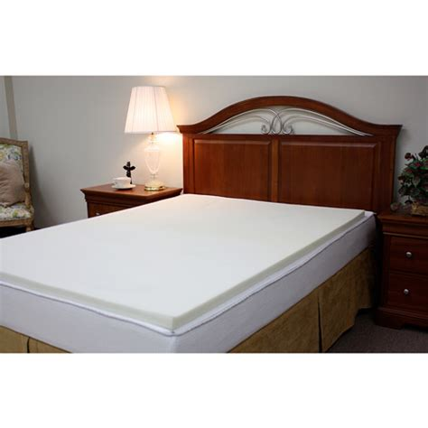 bed toppers walmart beautyrest 5 12 in gel memory foam mattress topper and pad