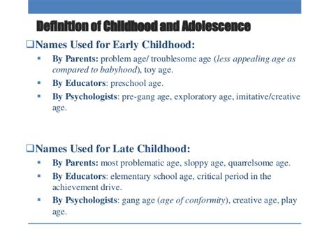 definition of preschooler child and adolescent learner 667