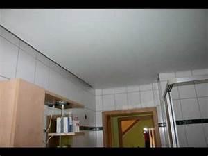 Deckenverkleidung Badezimmer Beispiele : dezett spanndecke in einem badezimmer youtube ~ Sanjose-hotels-ca.com Haus und Dekorationen