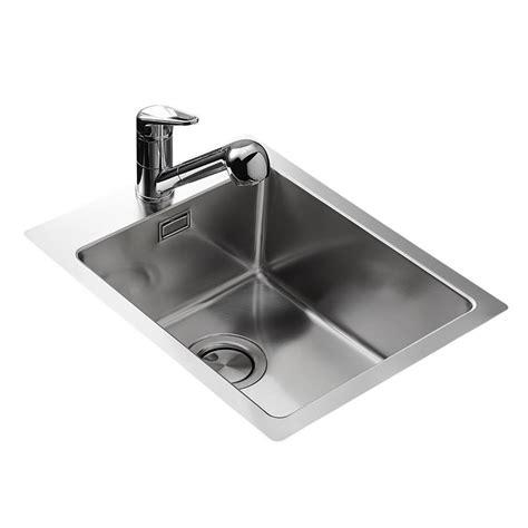 cuisine sans hotte évier inox lisse apell 1 bac sans égouttoir 400x500