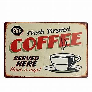 Plaque Vintage Metal : buy coffee tin sign retro vintage metal plaque bar pub cafe wall decor ~ Teatrodelosmanantiales.com Idées de Décoration
