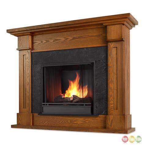 Kipling Ventless Gel Fuel Fireplace In Burnished Oak With