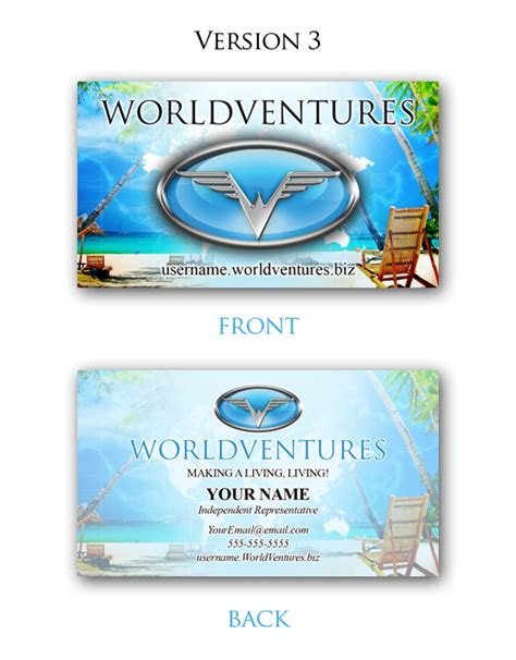 Worldventures Business Cards
