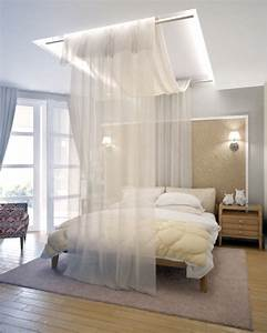 Vorhang Für Bett : himmelbett vorhang 55 tolle und inspirierende himmelbett beispiele ~ Whattoseeinmadrid.com Haus und Dekorationen