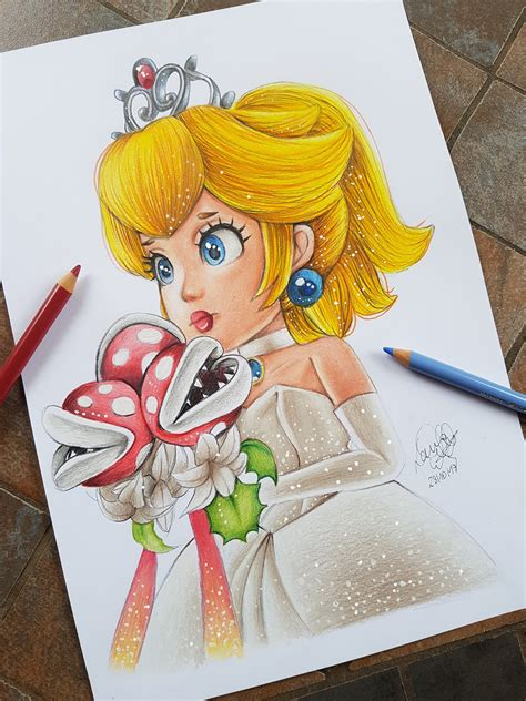 Princess Peach Super Mario Odyssey Drawing By