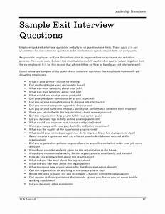 hr sample exit interview questions With exit interview questions template
