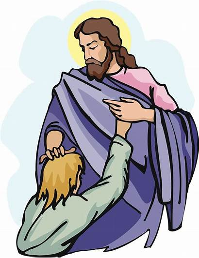 Jesus Healing Clipart Clip Sick Heals Christ