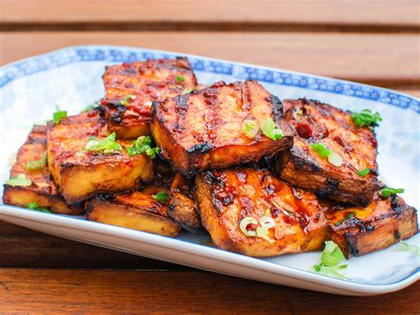 cuisine tofu grilled tofu with chipotle miso sauce recipe serious eats