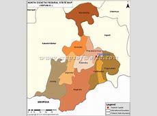 North OssetiaAlania Map, Republic of North OssetiaAlania