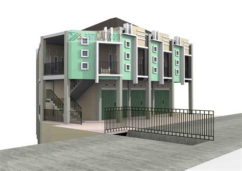gambar desain rumah kost minimalis  lantai terbaru