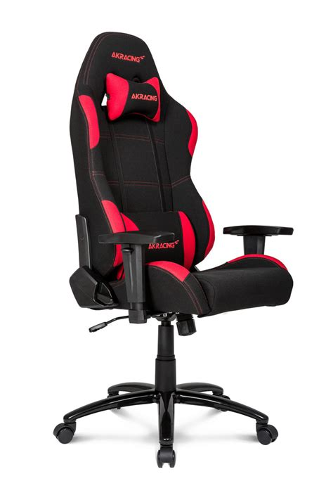 ak racing akracing core series  gaming chair black red cloth fabric falcon computers