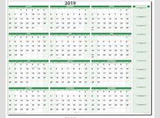 2019 DryErasable Wall Calendar 19