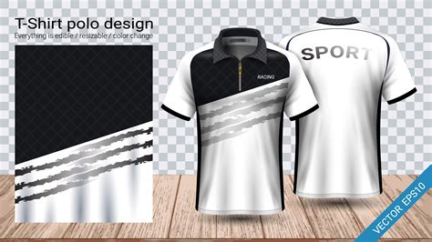 Set of colored shirt mockup in front view and back view for baseball, soccer, football , sportswear or casual wear. Polo t-shirt design with zipper, Soccer jersey sport ...