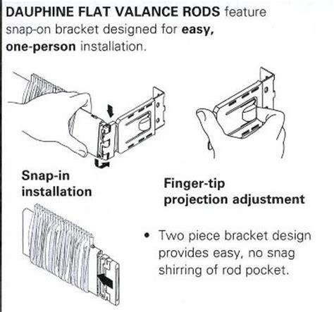 2 1 2 inch dauphine flat curtain rod interiordecorating