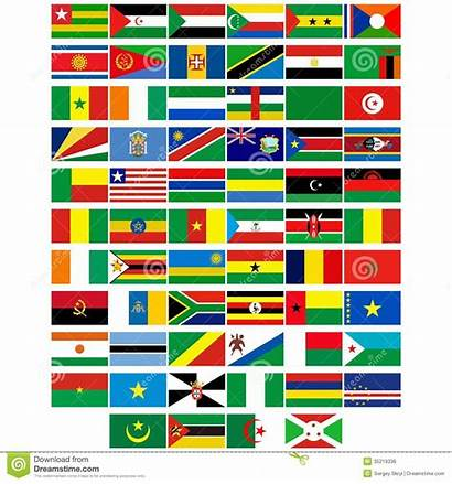 Flags Countries Africa Different Background Illustration Badges
