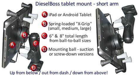 Truck & RV dash mount or windshield bracket for tablet ...