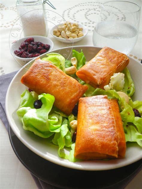 brick cuisine ma salade de bri brick croustillants de brie en feuille de brick cuisine addict
